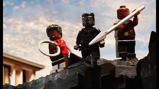 Black Panther vs Killmonger - LEGO Marvel Super Heroes - Stop Motion