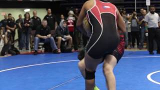 Mack Beggs, a transgender student, wrestles in the 2017 UIL State Championships