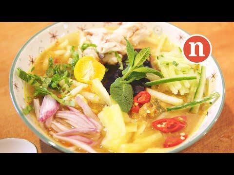 Asam Laksa | Malaysian Sour and Spicy Fish Soup Noodles | Penang Asam Laksa [Nyonya Cooking]