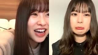 吉川七瀬(AKB48 チーム8/チームB)&中西智代梨(AKB48 チームB) コラボ配信.