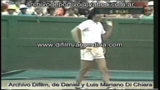 DiFilm - Guillermo Vilas vs Ilie Nastase - Final Torneo de Australia (1974)