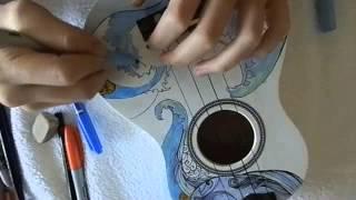 Ukulele Drawing Process