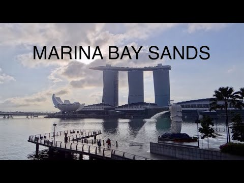 Marina Bay Sands - Deluxe Room & swimming pool HD