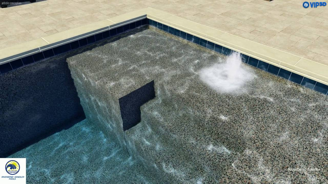 Pool Company Dallas | Raised Spa with Tiered Spillway and Bubblers