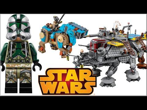 Новое LEGO Star Wars Турботанк клонов, Шагоход AT-TE Капитана Рекса. Лего Звёздные войны фото Обзор