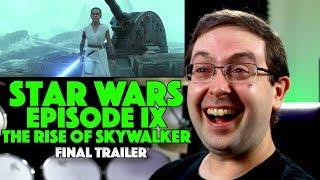 REACTION! Star Wars Episode IX: The Rise OF Skywalker Final Trailer - Daisy Ridley Movie 2019