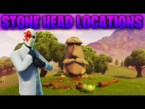 Visit Different Stone Heads  - All 7 Stone Head Locations In Fortnite