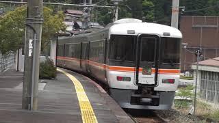 373系 急行飯田線秘境駅号 佐久間駅通過