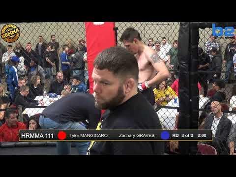 HRMMA 111 Fight 10 Tyler Mangicaro vs Zachary Graves 155 Ammy
