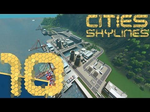 [Cities Skylines] San Palma #10: industrial harbor / cargo hub + nuclear power plant
