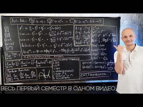 Видеоуроки по математике высшей