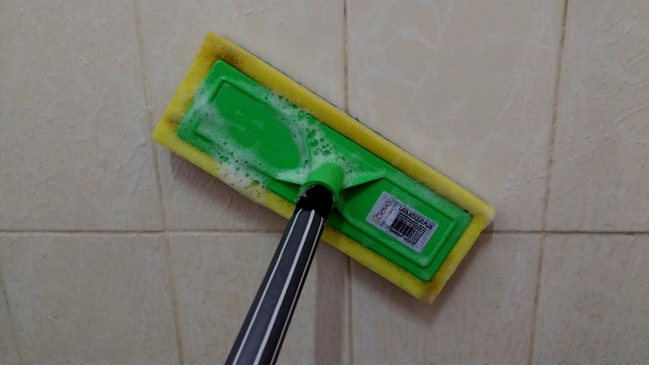 Lavar Azulejo Banheiro : Bucha com cabo de lavar azulejos pisos box banheiro