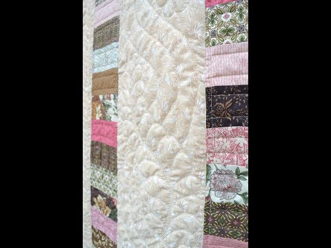 EPISODE 94 ~ Jelly Roll Quilt Part TWO ~ sewing strips together and creating quilt top