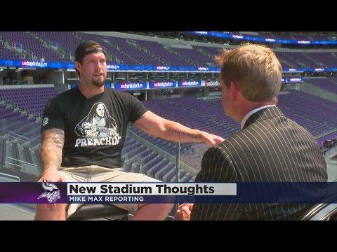Vikings Players Get First Look U.S. Bank Stadium