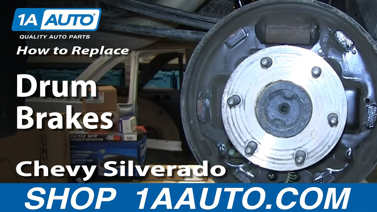 how to replace brake drums 09 13 chevy silverado 1500 Chevy S10 Rear Brake Diagram