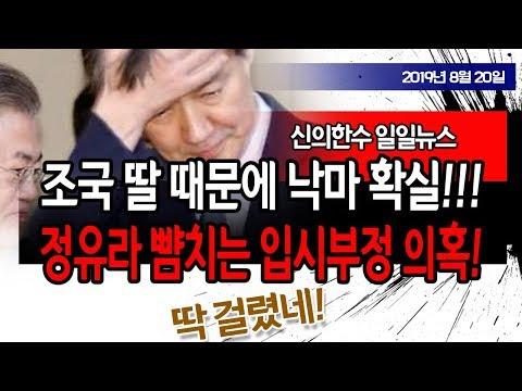 (일일뉴스) 조국 딸 대박 사건!!! 대학입시 부정 의혹!!! 결국 낙마!!! / 신의한수 19.08.20