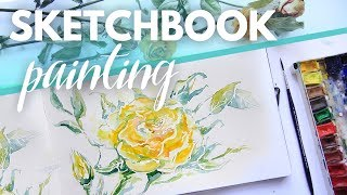 ☆ SKETCHBOOK ☆  Розы акварелью  ☆  Watercolour painting sketch on Moleskine  ☆   Аlice Wood