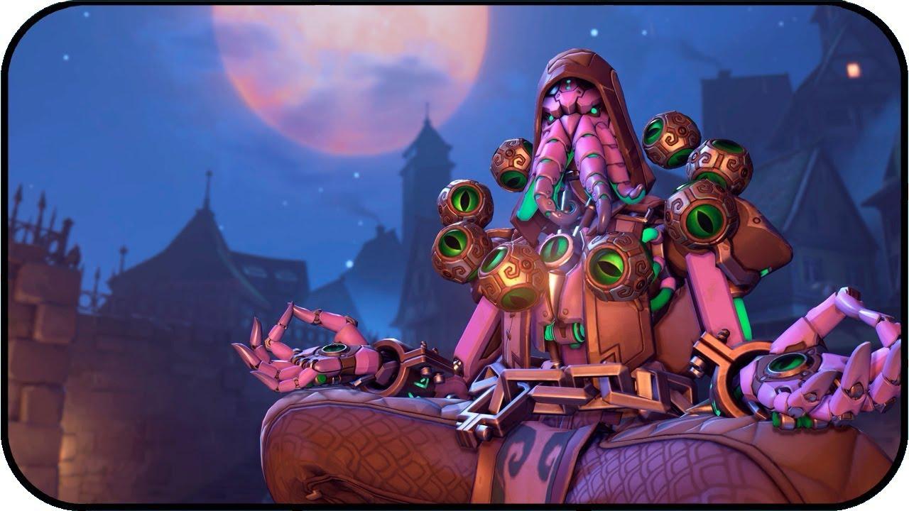Overwatch Zenyatta Sectario Halloween Animated Wallpaper 4k