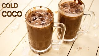 Cold Coco Recipe - Surti Chocolate  Cocoa Milk Shake - CookingShooking