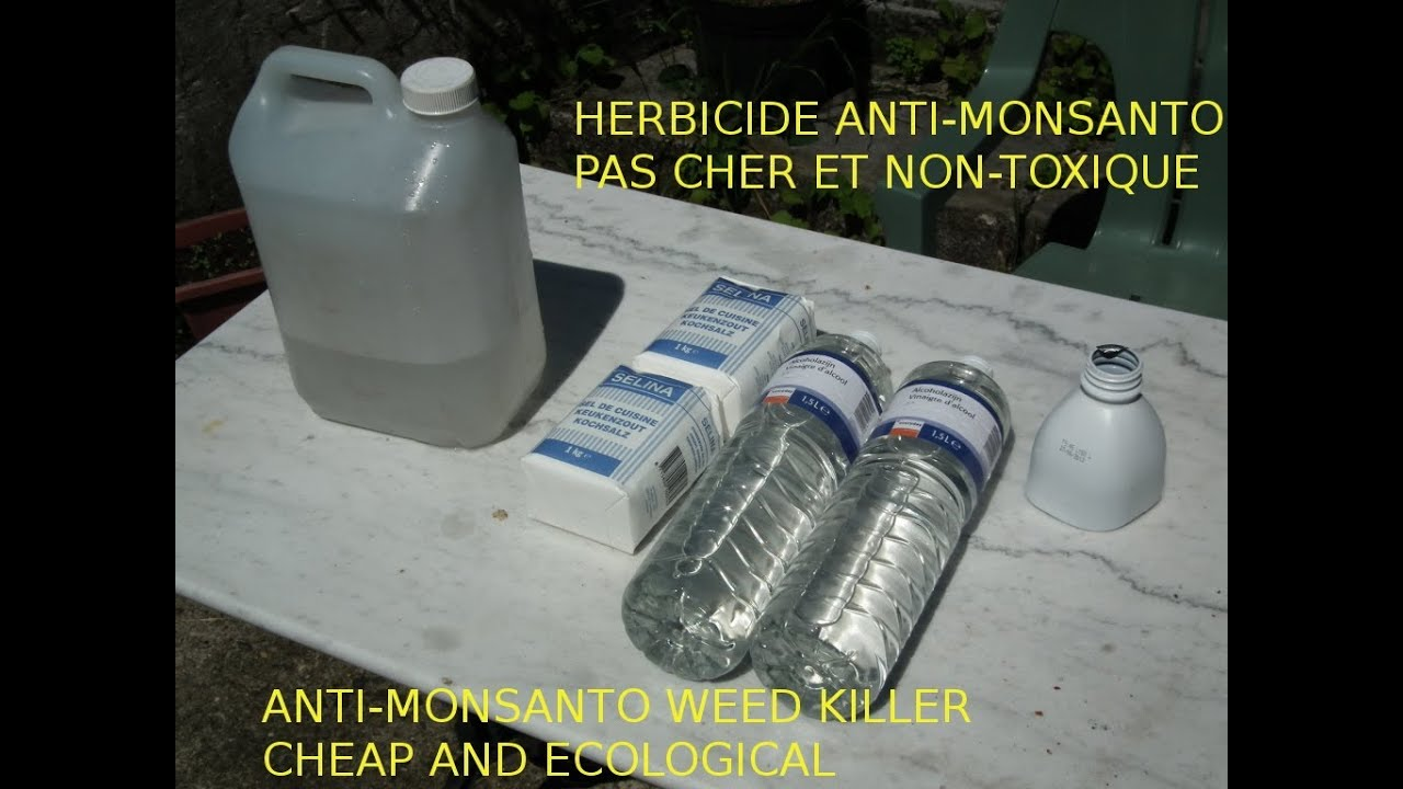 Astuce jardin d sherbant bio bon march et naturel cheap and ecological weed killer monsanto - Vinaigre blanc 14 desherbant ...