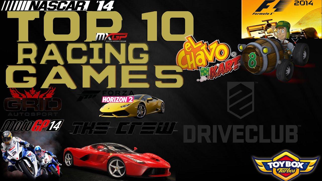 Top 10 - Best Racing Games of 2014 [HD]