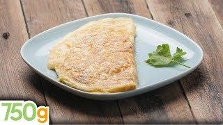 Recette d'Omelette roulée comme un chef - 750 Grammes