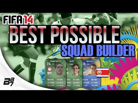 BEST POSSIBLE COSTA RICA TEAM! w/ iMOTM CAMPBELL AND RUIZ | FIFA 14 Ultimate Team Squad Builder