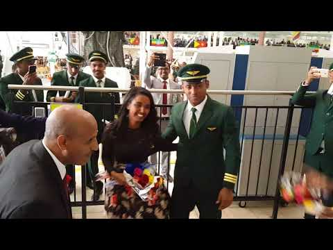 ETHIOPIAN AIRLINES PILOT PROPOSED TO HIS GIRLFRIEND ON HIS GRADUATION DAY