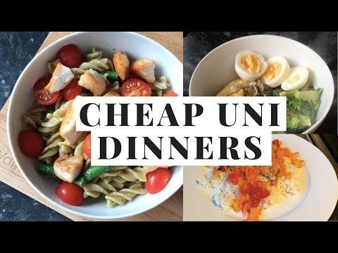 CHEAP / EASY / HEALTHY UNI DINNERS - STUDENT FOOD HACKS