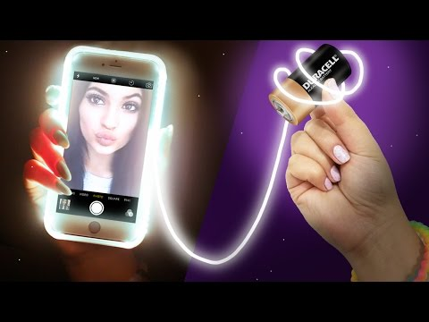 DIY LIGHT UP Phone Case! Take the PERFECT Selfie!