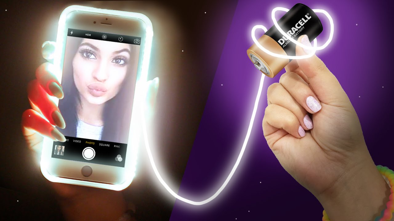 Diy Light Up Phone Case Take The Perfect Selfie Youtube