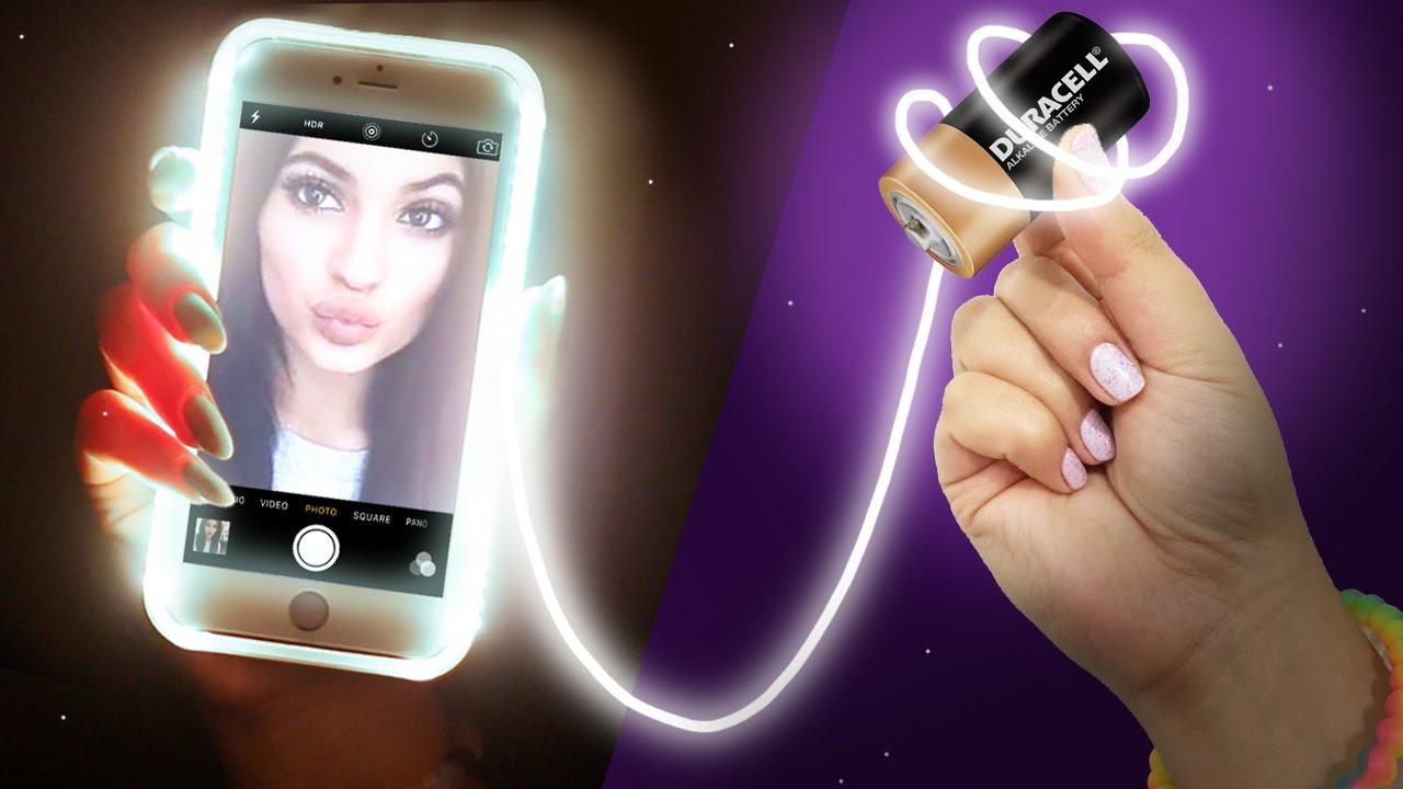 quality design a4af7 2cf6b DIY LIGHT UP Phone Case! Take the PERFECT Selfie!