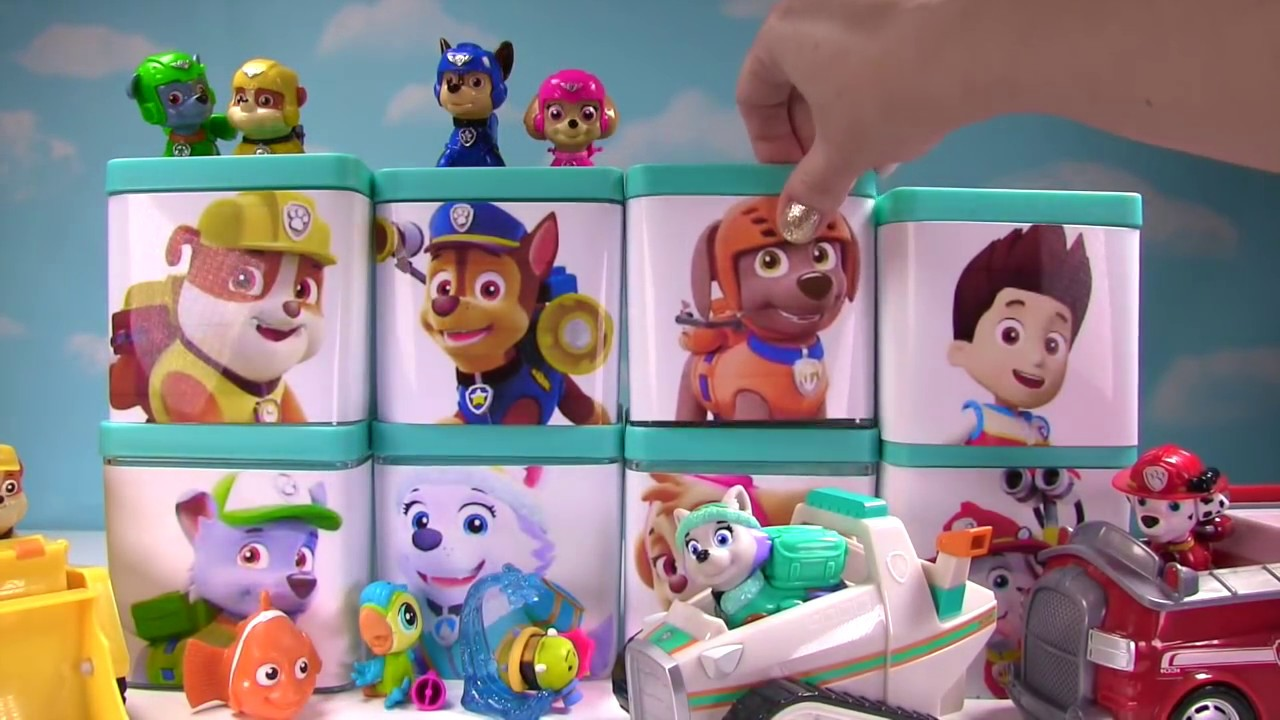 Huge Paw Patrol Surprise Blind Boxes Toy Show Air Pup