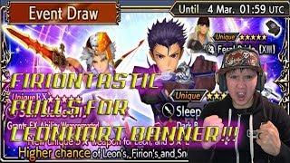 Dissidia Final Fantasy: Opera Omnia FIRIONTASTIC PULLS FOR LEONHART BANNER!!
