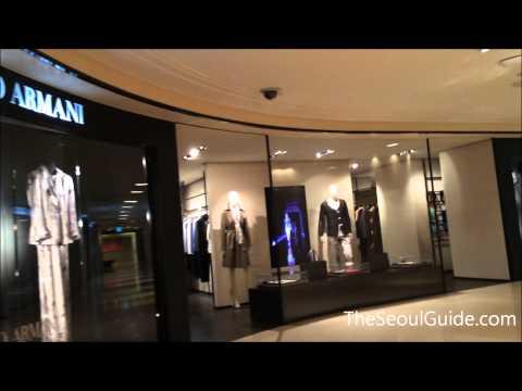 Walk through of Shinsegae Department Store (Main Store Building) in Myeongdong, Seoul, South Korea