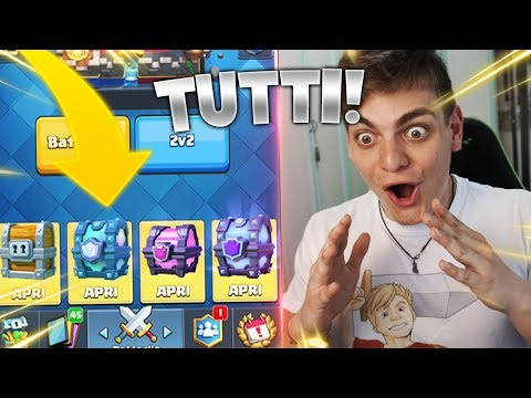 APRO TUTTI i vecchi BAULI di Clash Royale !! CHEST OPENING OLD EDITION !!