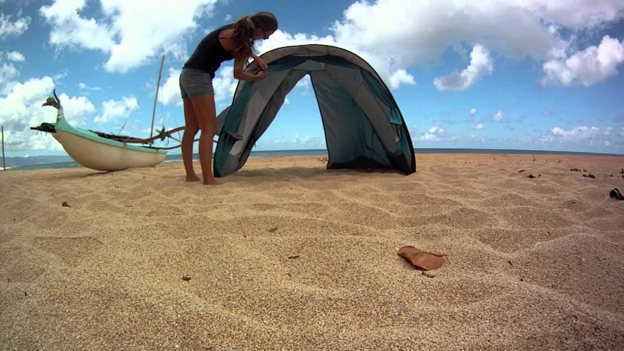 & Sun Smarties Family Beach Cabana Folding Hawaii - YouTube