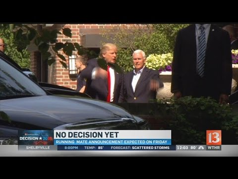 Trump meets with Pence at governor