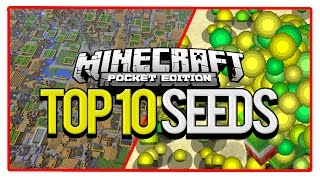 Repeat youtube video Minecraft Top 10 PE Seeds (Best Seeds for Minecraft Pocket Edition)