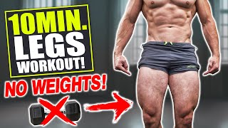 """10 MIN. """"LEGS"""" WORKOUT! GLUTES, QUADS, HAMSTRINGS & CALVES (BODYWEIGHT ONLY!)"""