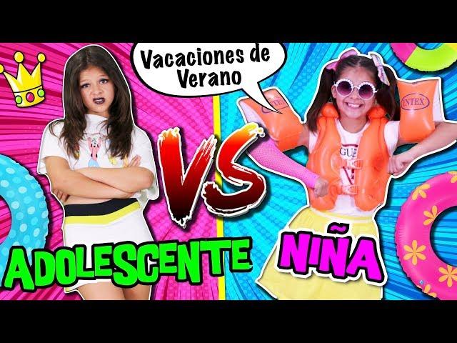 🎀 ¡¡NIÑOS VS ADOLESCENTES en VACACIONES de VERANO! 🌴 RUTINA DE LA MAÑANA de PRIMARIA vs SECUNDARIA