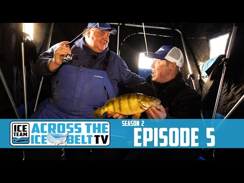 DEVILS LAKE JUMBO PERCH WITH THE PERCH PATROL - ACROSS THE ICE BELT WITH ICE TEAM
