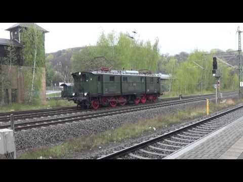 DR-Baureihe E 77 (E 77 10) Fotogüterzug zum 8. Dresdener Dampflokreffen 2016 - Freital Potschappel