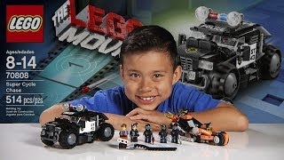 Repeat youtube video SUPER CYCLE CHASE -  LEGO MOVIE Set 70808 - Time-lapse Build, Stop Motion, Unboxing & Review!
