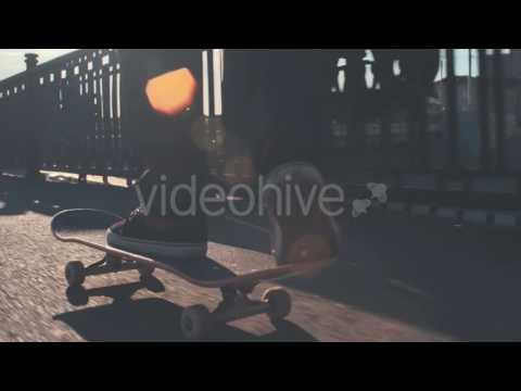 Street Skateboarding (Stock Footage)