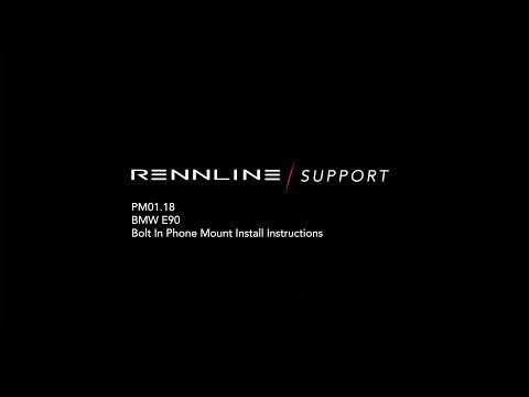Rennline PM01.18 ExactFit Phone Mount Installation - BMW E90