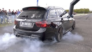900HP BMW 335i (E91) - CRAZY REVS & BURNOUT!