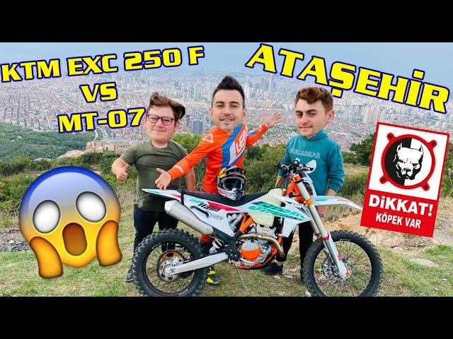 ATAŞEHİR MANZARASI - YEDİTEPE ÜNİVERSİTESİ - KTM EXC F 250 vs MT 07 😆