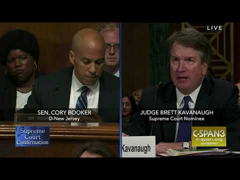 Cory Booker questions Judge Kavanaugh during hearing