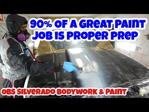 Bodywork & Paint – Rust & Dent Repair – Prep For Painting A Car Or Truck – 1994 OBS Chevy Silverado